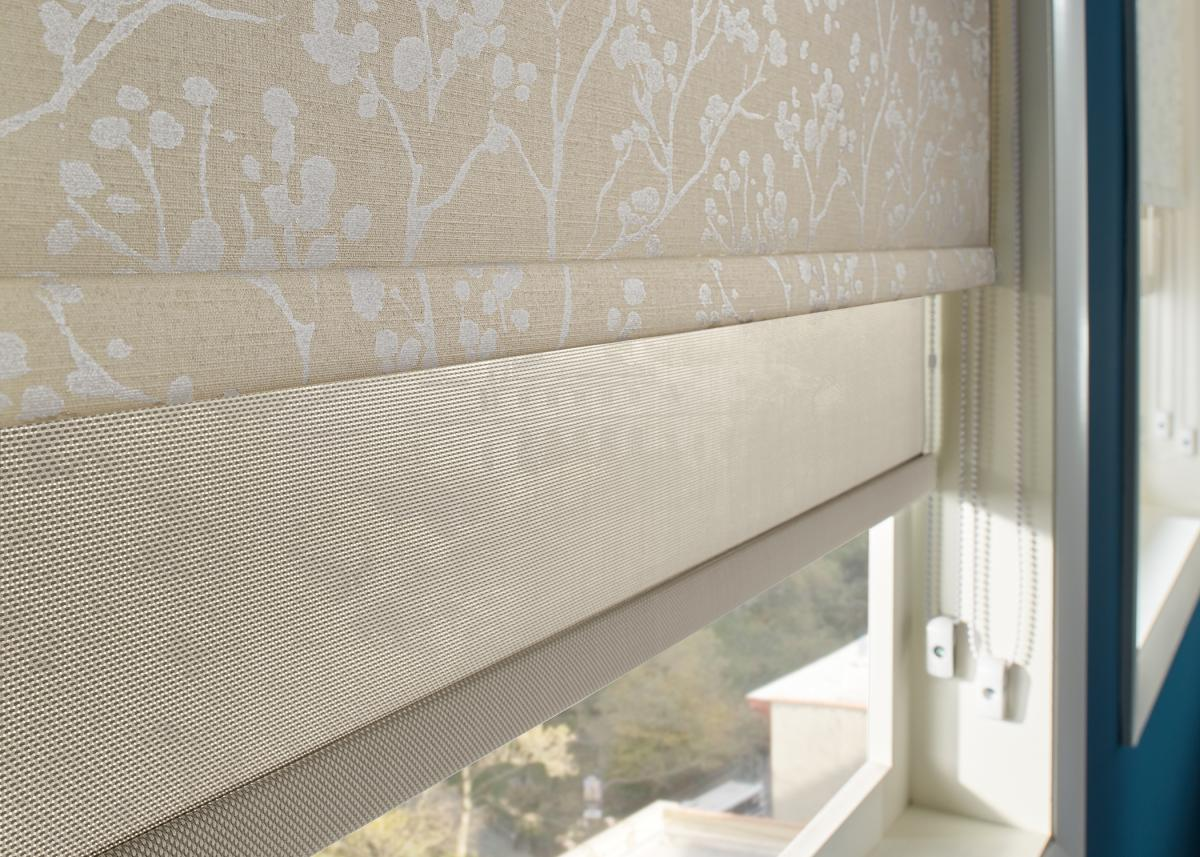 Roller Shades Room Scene Country Villa Window Fashions